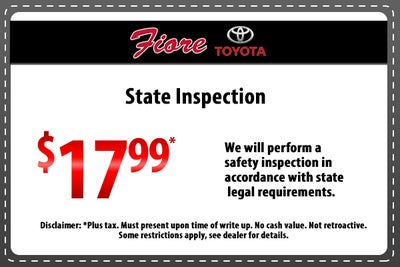 State Inspection Coupon >> Service Specials
